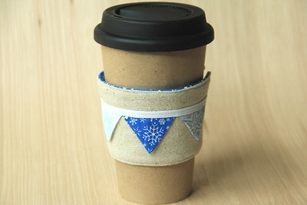 Snowflake Coffee Cup Sleeve - CraftyStaci
