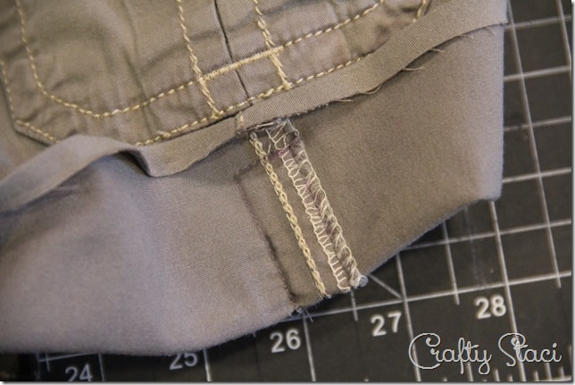 Adding a Side Slit to Shorts - Crafty Staci 3