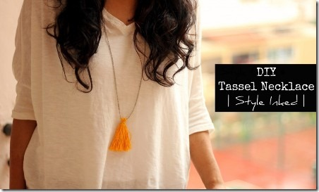 DIY Tassel Necklace - Style Inked