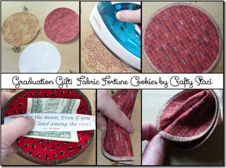 Fabric Fortune Cookies - Crafty Staci