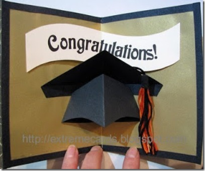 Graduation Cap Pop Up Card - Extreme Cards and Papercrafting