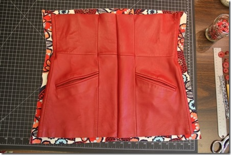 Red Leather Coat Refashion - Crafty Staci 5