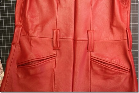 Red Leather Coat Refashion - Crafty Staci 7