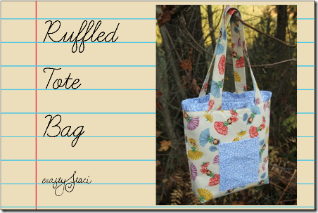 Ruffled Tote Bag by Crafty Staci