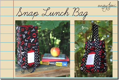 Snap Lunch Bag by Crafty Staci
