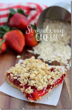 Strawberry Cake Bars - Raining Hot Coupons