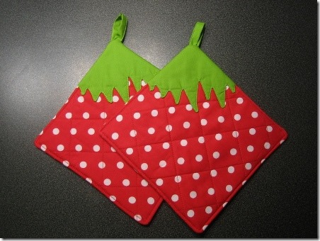 Strawberry Potholders - Cut Out and Keep