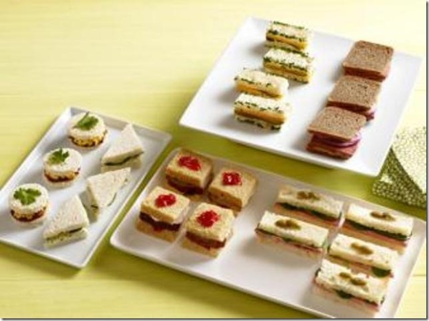 50 Tea Sandwiches on Food Network