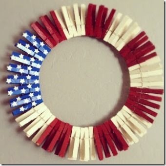 Clothespin Flag Wreath by Cats Craft Room