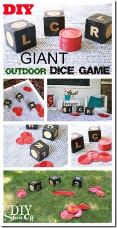 Giant Outdoor Dice Game by DIY Showoff