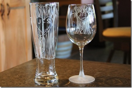 Product Review - Personalized Tree Trunk Glassware Duo - Crafty Staci 4