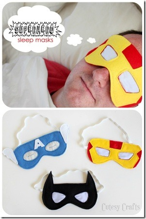 Superhero Sleep Masks from Cutesy Crafts