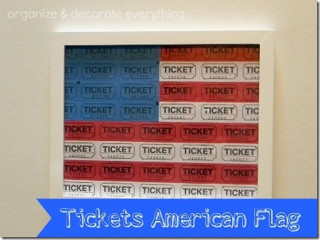 Tickets American Flag by Organize and Decorate Everything