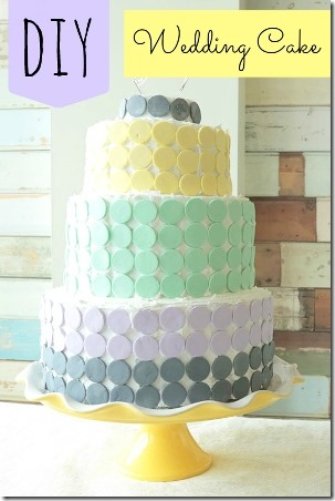 Candy Wafer Wedding Cake fom Intimate Weddings