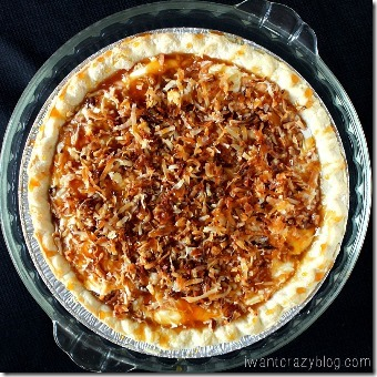 Caramel Coconut Cream Pie from I Want Crazy