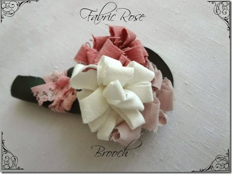 Fabric Rose Brooch from Little Treasures