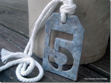 Faux Metal Number Tags from The Country Chic Cottage