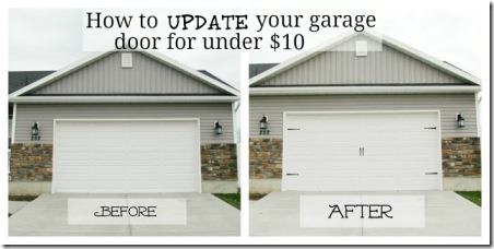 Garage Door Makeover by Garr Den of Love