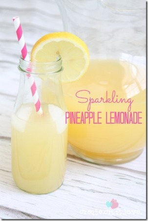 Sparkling Pineapple Lemonade by Create Craft Love