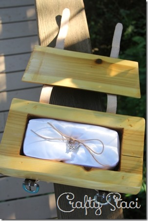 Cedar Log Wedding Ring Bearer Box - Crafty Staci 5