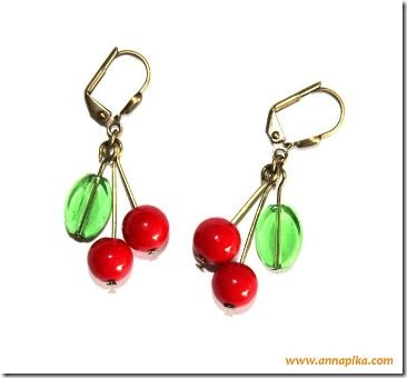 Cherry Earrings by Anna Pika