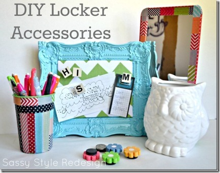 DIY Locker Accessories from Sassy Style Redesign