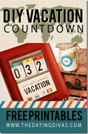 DIY Vacation Countdown from The Dating Divas