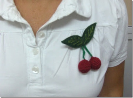 Embroidered Cherries by Sewing Adicta