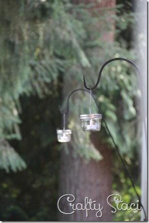 Hanging Mason Jar Votive Lanterns - Crafty Staci 1