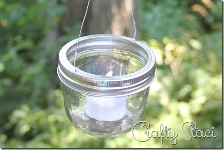 Hanging Mason Jar Votive Lanterns - Crafty Staci 6