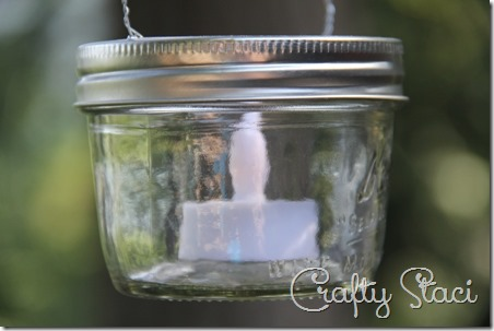 Hanging Mason Jar Votive Lanterns - Crafty Staci 7
