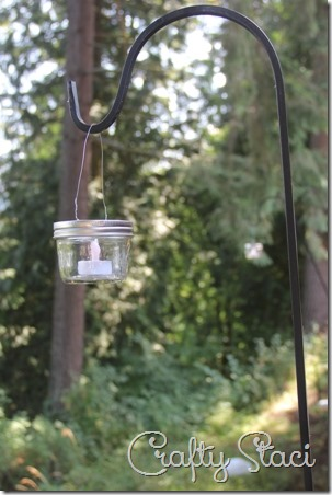 Hanging Mason Jar Votive Lanterns - Crafty Staci 9