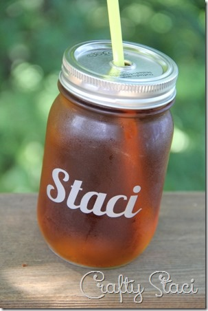 Personalized Drinking Jar Wedding Favors - Crafty Staci 10