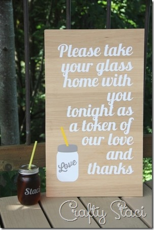 Personalized Drinking Jar Wedding Favors - Crafty Staci 11