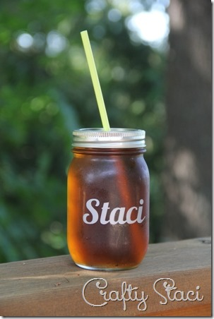 Personalized Drinking Jar Wedding Favors - Crafty Staci 1