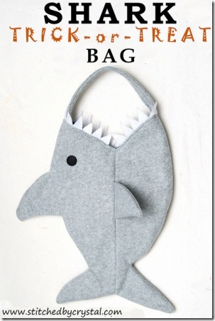Shark Trick or Treat Bag by Stitched by Crystal