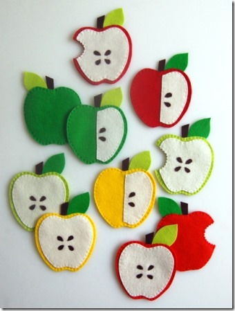 Apple Coasters from Purl Bee
