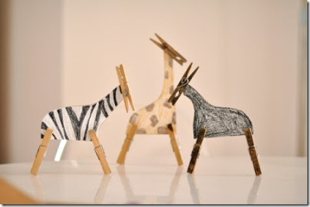 Clothespin Safari Animals from Estefi Machado
