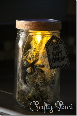 Halloween Spider in a Jar - Crafty Staci 15