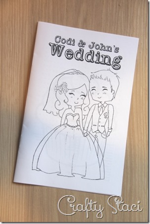 Kids Wedding Coloring Book - Crafty Staci 1