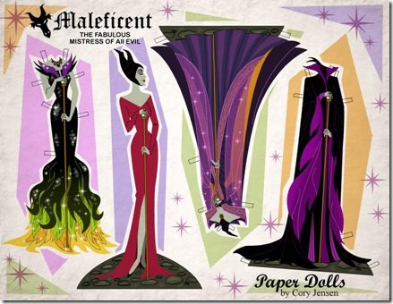 Maleficent Paper Doll by Cory