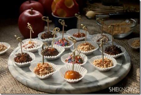 Mini Caramel Apple Bites from She Knows