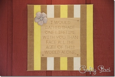 One Lifetime Sign - Crafty Staci 1