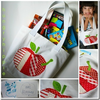 Patchwork Apple Tote from 1 Hungry Hippie