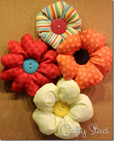 Puffy Fabric Flowers - Crafty Staci 11
