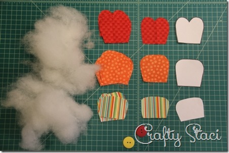 Puffy Fabric Flowers - Crafty Staci 2