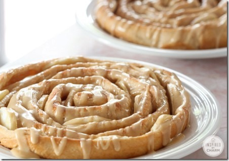 Spiral Apple Bread with Caramel Apple Glaze from Inspired by Charm