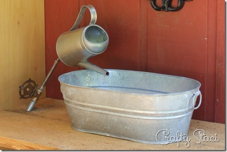 Tub Sink : Galvanized Tub Sink and Watering Can Faucet - Crafty Staci 1