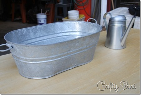 galvanized tub sink and watering can faucet crafty staci