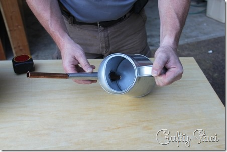 Galvanized Tub Sink and Watering Can Faucet - Crafty Staci 5